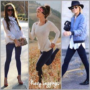 Threads & Trends Pants - Slimsation Fleece Lined Navy Leggings
