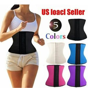 Other - 9 steel boning latex waist trainer