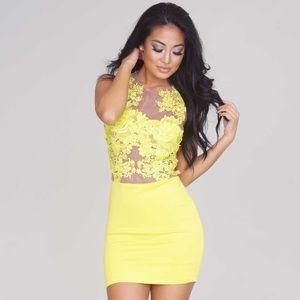 Yellow posh shop dress
