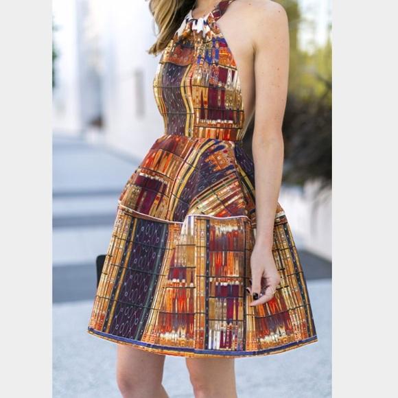 Ina Fashion Dresses   Flared Dress Hm Mosaic New   Poshmark