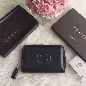 💕HOST PICK💕Gucci patent leather wallet