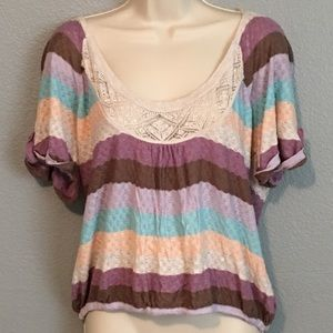 American Rag Tops - 🌟Multi-Color Lace Front Top!🌟