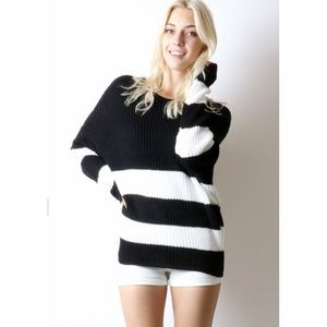 LAST ONE✨Slouchy Striped Sweater-Lowest Price Sale
