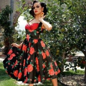 Pinup girl clothing Laura Byrnes Rose Grace Dress