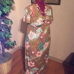 Antthony Dresses & Skirts - Jungle Flowered Maxi-Dress
