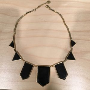 SALEHouse of Harlow black and gold necklace