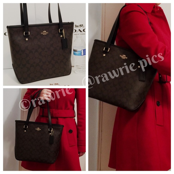 a095efe6aff Coach Bags | Sale New Signature Zip Top Small Tote | Poshmark