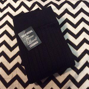 Gold Toe Pants - Fleece lined black legging nwt