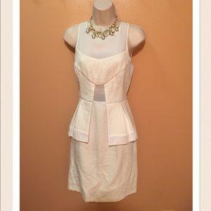 River Island Ivory Peplum Dress