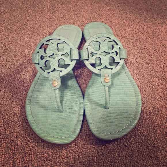 8fde76c496193 Tory Burch Turquoise Miller Sandals 7.5. M 57f6ffa22de5128da3005de3
