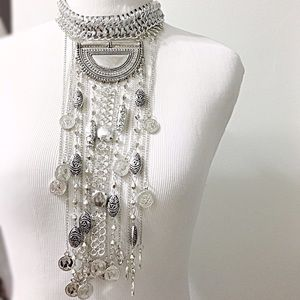 Jewelry - Brand new bohemian style silver colored necklace.