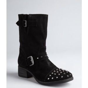 Kelsi Dagger Ranger suede spiked motorcycle boots