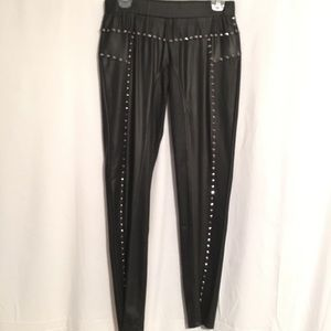 Virgin Only Pants - 🎉🎀HP💥🎀Edgy Faux Leather Spiked Leggings, Large