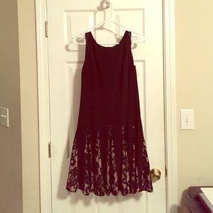 Betsy & Adam Dresses & Skirts - Black & Beige Lace Cocktail Dress