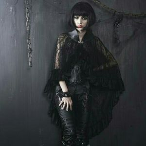Black Lace Cape Costume Gothic Vampire Goth NEW NW