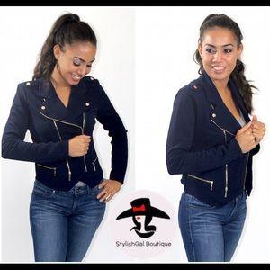 Zara Jackets & Blazers - SUPERSALE🛍 🎉2x HP🎉Navy Jacket