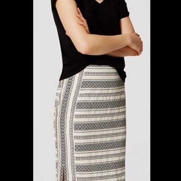 942b24d552 LOFT Skirts   Mosaic Stripe Pencil Skirt   Poshmark