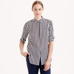 J. Crew classic silk shirt in stripe