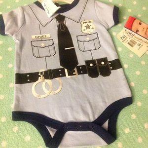 Baby Essentials Other - Baby boy cop onesie