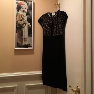 Amy Byer Other - Black velvet girls dress- 1 piece