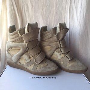 Isabel Marant Bekett Suede Wedge Sneaker Sz 38