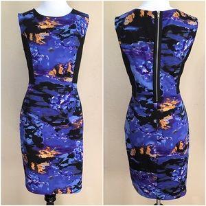 Cynthia Rowley Dresses & Skirts - Cynthia Rowley Blue Black Gold Print Dress