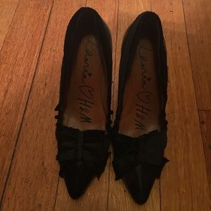 Lanvin for H&M black with silver heel pumps