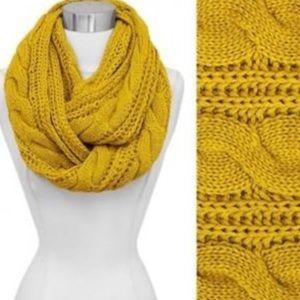 Cozy Mustard Yellow Scarf