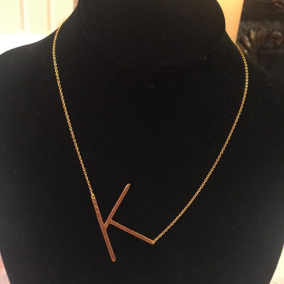 Anthropologie Monogram Pendant Necklace oQKYr8s