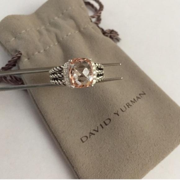 60423ab9811 David Yurman Jewelry - David Yurman Petite Wheaton Morganite ring