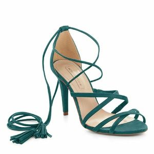 BCBGMaxAzria Shoes - BCBGmaxazria Green laceup pumps.  Price firm