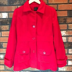 """Mine"" Red Peacoat"