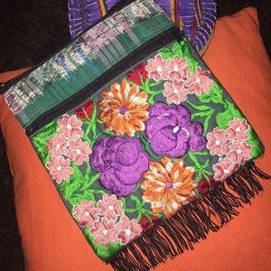 Handmade Handbags - Colorful embroidered Mexican Crossbody Bag