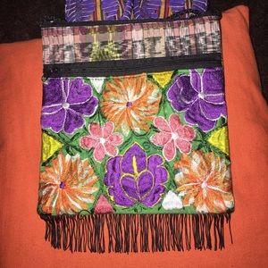 Handmade Handbags - New embroidered Crossbody Mexican Bag