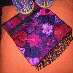 Handmade Handbags - New Mexican Colorful Embroidered Crossbody Bag