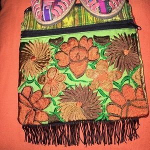 Handmade Handbags - New Mexican Embroidered Crossbody