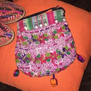 Handmade Handbags - New Embroidered Handmade Mexican Crossbody Bag
