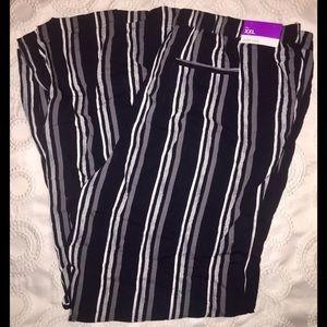 NEW Merona Striped Wide-Leg Trousers