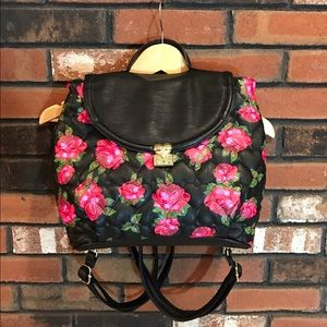 Betsey Johnson Floral Print Purse