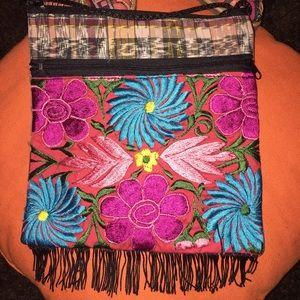 Handmade Handbags - New Handmade Mexican Embroidered Crossbody Bag