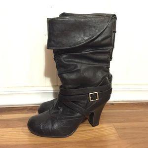 Hot Kiss Shoes - Black boots