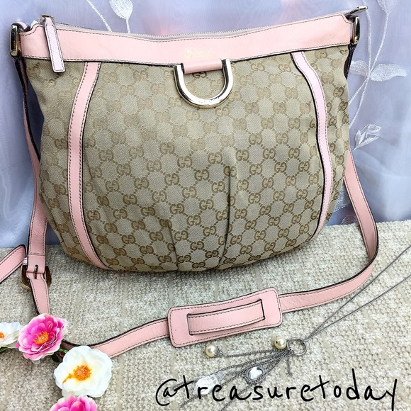 f4b2cc853f7 Gucci Handbags - SALE⚡ Gucci Abbey Pink Monogram Canvas Cross Body