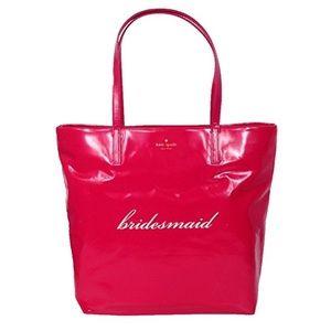 kate spade Handbags - Kate Spade Hot Pink BRIDESMAID Bon Shopper Tote