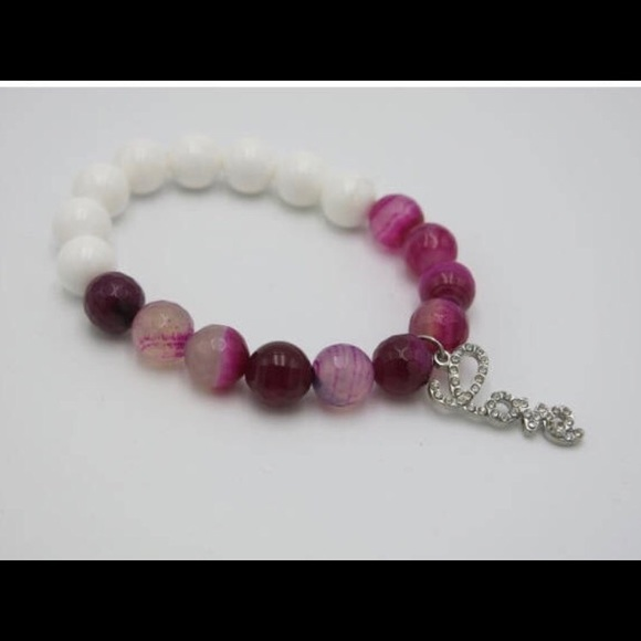 69 js boutique jewelry pink and white beaded