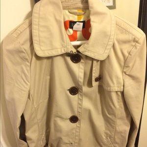 JCrew khaki trench coat