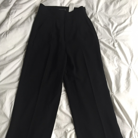 100% genuine best supplier discover latest trends Zara high waisted wide leg pants XS