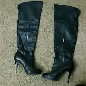 3b19c9eb353 Steve Madden Genuine Leather Thigh Highs
