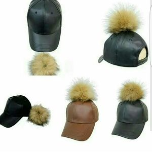 Faux Leather Hats PRICE FIRM!!!