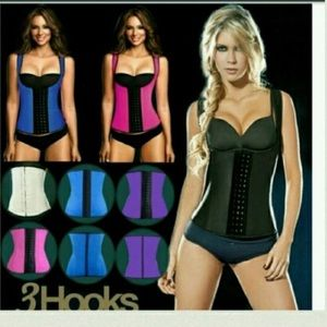 Other - 2 vest steel boned vest corset latex waist trainer