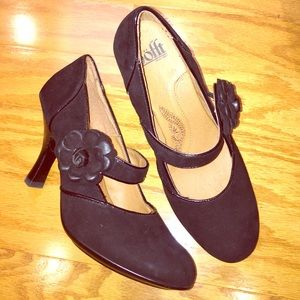 Soft Gallery Shoes - SOFT brand black suede Mary-Jane heels